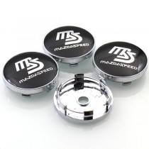 MAZDASPEED Logo Wheel Centre Caps - Set of 4 (60mm)
